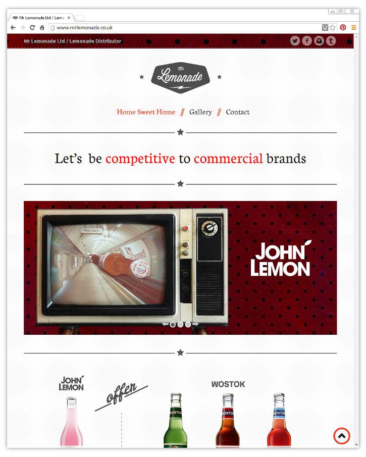 Mr Lemonade Ltd., strona internetowa