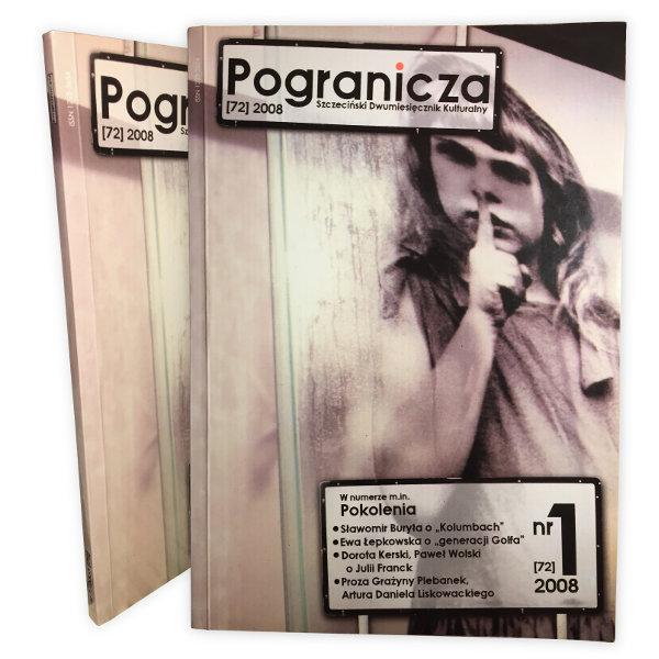 Pogranicza - Szczeciński Dwumiesięcznik Kulturalny 2008, okładka